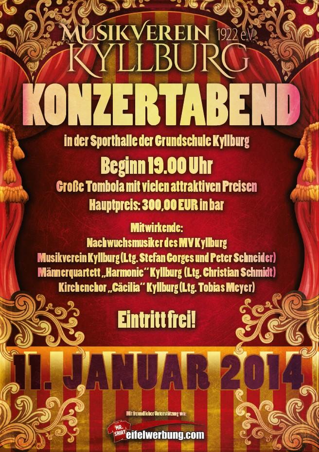 Plakat Musikverein Konzertabend